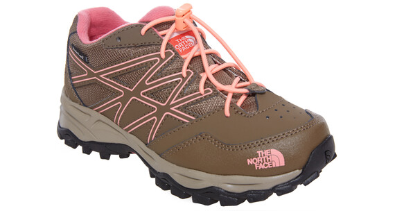 The North Face Hedgehog Hiker Waterproof Shoes Girls cub brown/neon peach